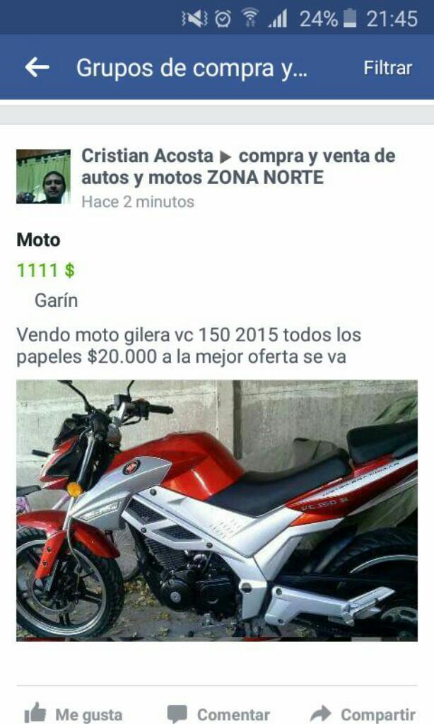 Vondo Moto con Garantia de Un Buen Uso
