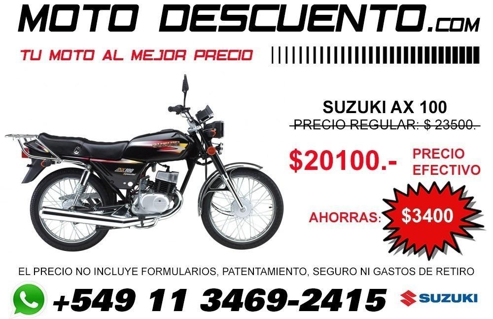 Moto Suzuki Ax 100 El Mejor Precio En Moto Descuento