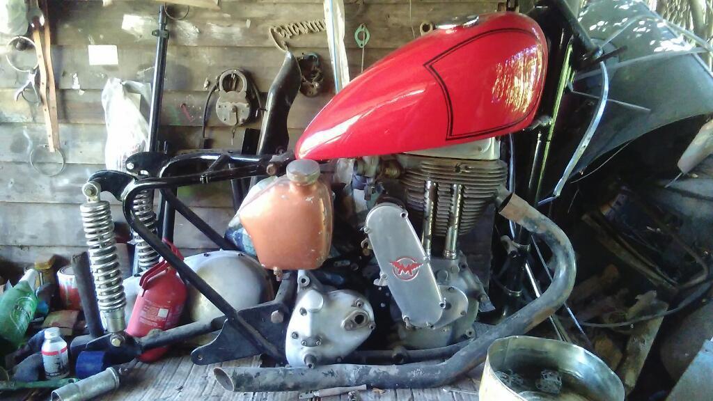 Moto Inglesa Año 1949 Motor Completo