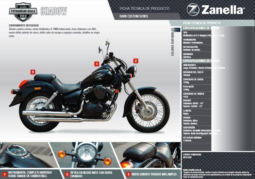 ZANELLA PATAGONIA EAGLE 250 SHADOW