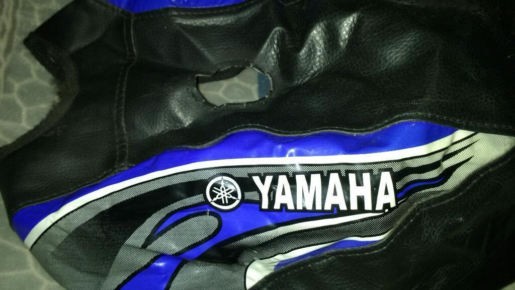 Funda Tanque de Moto Ybr 125 Cc Color Negro con Azul
