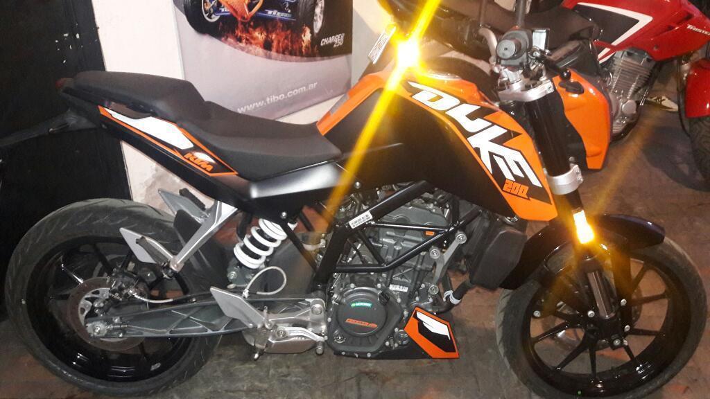 Ktm Duke 200 Año 2017 0k