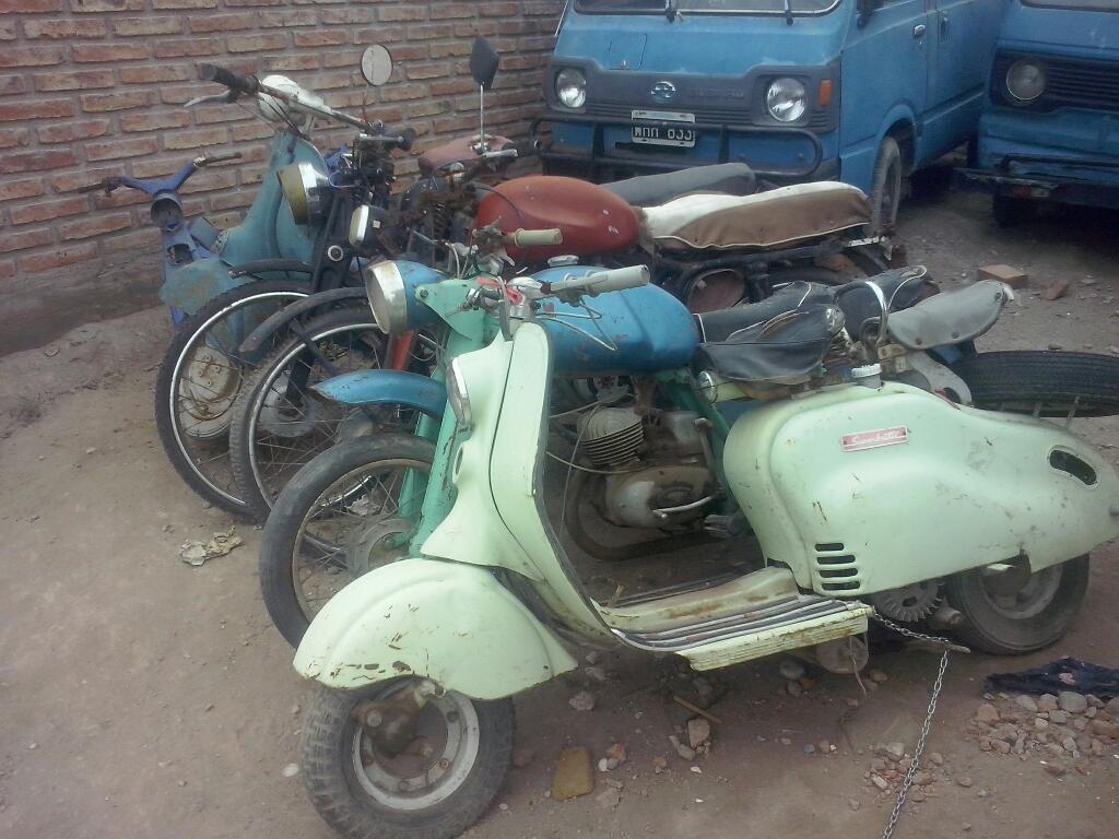 Vendo Lote Motos Antiguas Y Accesorios