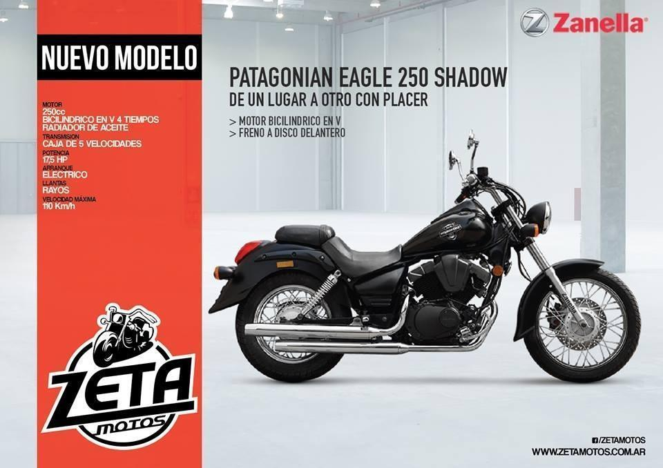 Zanella Patagonian 250 Shadow 2017 Zeta Motos