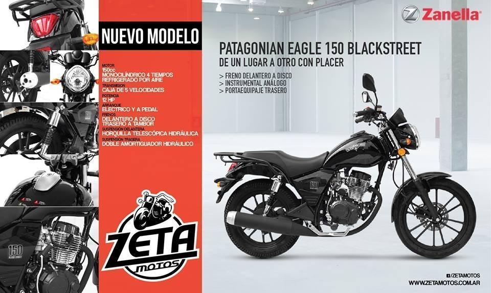 Zanella Patagonian 150 Blackstreet 0km 2017 Zeta Motos