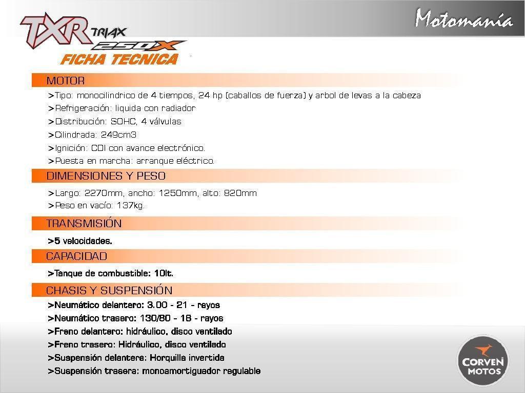 Corven Txr250x 2017 - 0km - No Honda - No Yamaha - Tornado