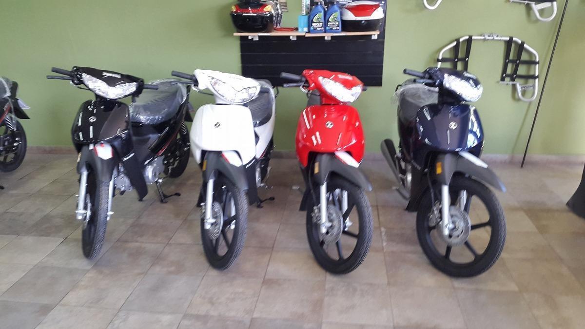 Zanella Zb 110 Full 0km Negro, Rojo, Blanco, Azul