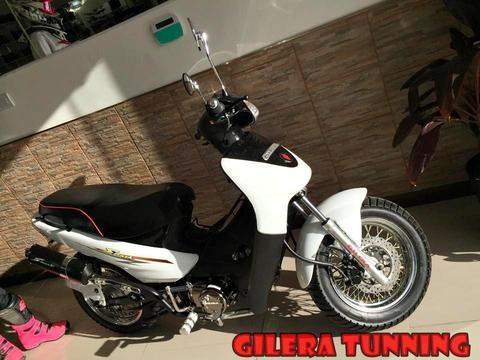 Vendo Gilera tunning 110 0km con patentamiento, casco y linga incluidos!