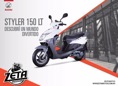 Scooter Zanella Styler 150 Lt 0km 2017 Zeta Motos