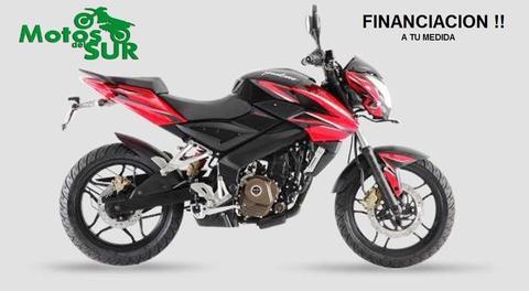 Bajaj Rouser 200 Ns 0 Km - 2016 Motos Del Sur Blanca