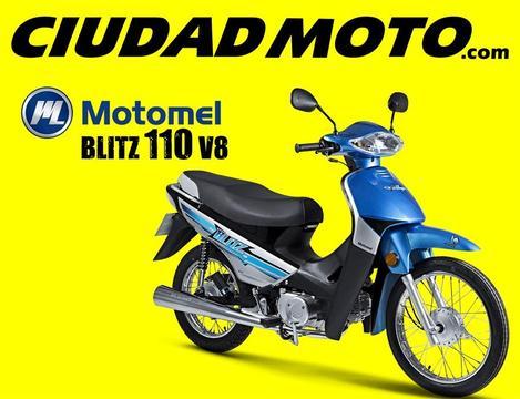 Motomel Blitz 110 V8 En Ciudad Moto
